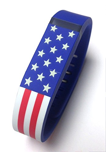 PL Replacement Armband with Clasp for Fitbit Flex - American Flag, Small