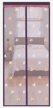 En verano, anti-mosquitos y moscas cierran automáticamente la pantalla de la puerta de cortina de malla de adsorción magnética A2 W120xH210