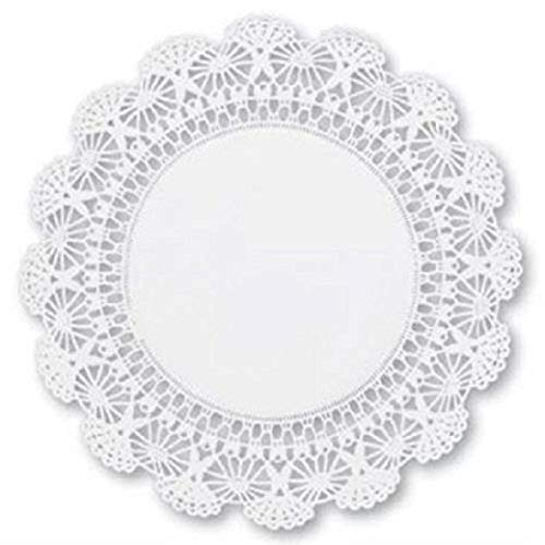 Round paper Lace Table Doilies – 12 inch White Decorative Tableware Disposable papers Placemats (pack of -