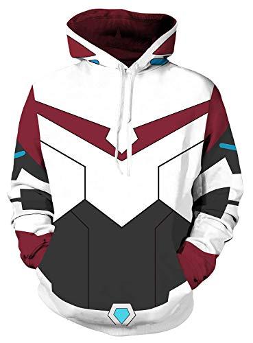 Riekinc Superhero Hoodie Jacket Pullover Sweatshirt Cosplay Costume ()
