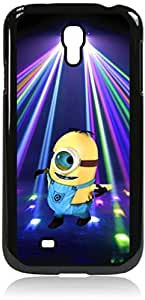 Dancing in the Blue Spotlight- Hard Black Plastic Snap - On Case with Soft Black Rubber Lining-Galaxy s4 i9500 - Great Quality!