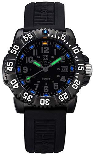 Gosasa Men's Tritium luminous Watch Rotatable Bezel Navy SEAL Stainless Steel Case Men's Military Quartz Watche
