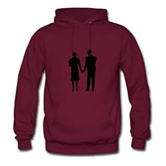 Arturobuch Husband Wife Married Painting Hoodies X-large For Women Burgundy