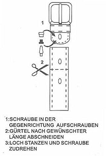 9636c5f22c10 Eg-Fashion Herren Jeansgürtel 5 cm Breite 100% Büffelleder Herren Gürtel  mit stylischer Flachdorn-Schnalle im Used Look  Amazon.de  Bekleidung