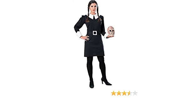 Disfraz Adult Wednesday Addams Costume: Amazon.es: Juguetes y juegos
