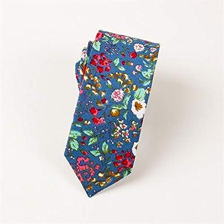 LLZGPZLD Corbata/Corbatas Florales Corbata para Hombre Flaco ...