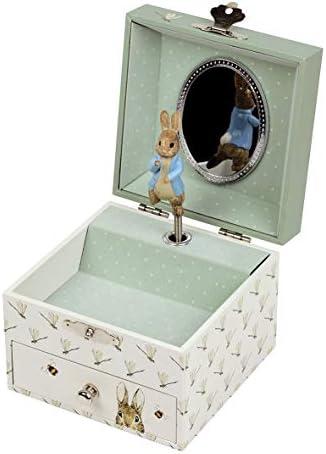 Trousselier - Caja para tesoros/joyas musicales, ideal como regalo para niños, música, Lullaby de Mozart, color verde: Amazon.es: Bebé