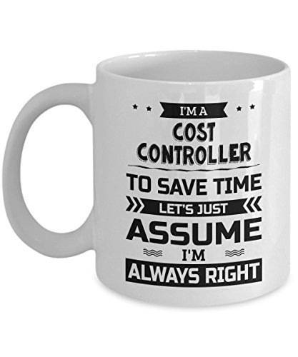 Cost Controller Mug - To Save Time Let's Just Assume I'm Always Right - Funny Novelty Ceramic Coffee & Tea Cup Cool Gifts for Men or Women with Gift Box