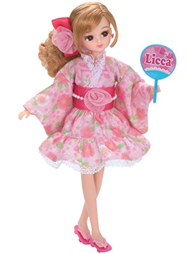 Licca-chan Dress LW-13 festival love yukata dress pink