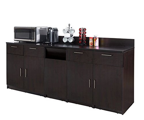 Coffee Kitchen Lunch Break Room Cabinets Model 4510 BREAKTIME 3 Piece Group Color Espresso - Factory Assembled (NOT RTA) Furniture Items ONLY. by Breaktime (Image #1)