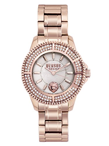 Versus by Versace Women's 'TOKYO CRYSTAL' Quartz Stainless Steel Casual Watch, Color Rose Gold-Toned (Model: SH7280016)