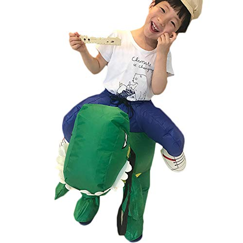 Birdfly Dinosaur Party Jumpsuit Costumes Inflatable Carnival Funny Clothes T-Rex Cosplay (Height 120-150cm, Green) for $<!--$19.99-->