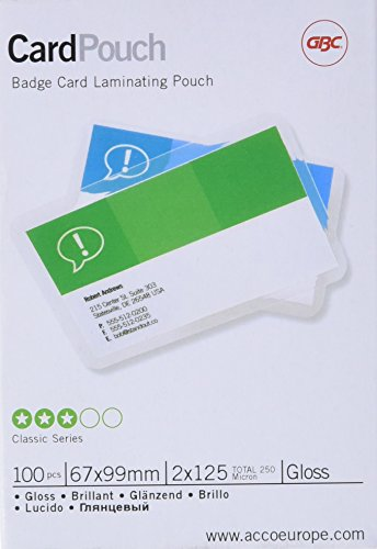 (GBC Card Laminating Pouches - Clear, Pack of 100)