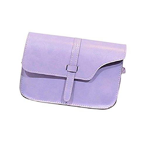HCFKJ Sac à Main En Cuir De Femme De Fille De Pochette De Faux BandoulièRe Tote Handbag Violet