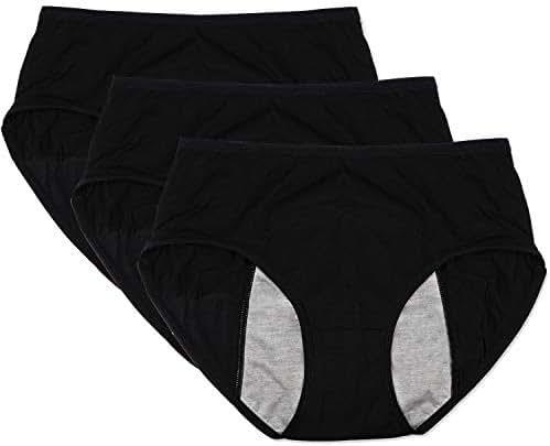 Funcy Women Menstrual Period Protective Panties Leakproof Brief Postpartum Bleeding Underwear(Pack of 3)