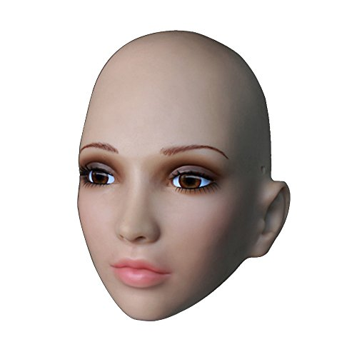Soft Silicone Realistic Mask, Female Mask with Skin Texture Halloween CD TG (Crossdress Halloween Costumes)