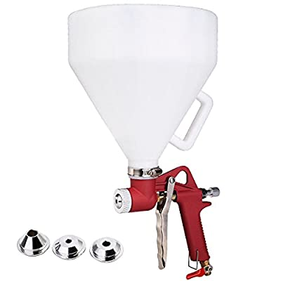Air Hopper Spray Gun Paint Texture Tool Drywall Wall Painting Sprayer w/3 Nozzle by imported