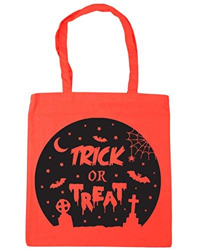 HippoWarehouse truco o trato Halloween Tote Compras Bolsa de playa 42cm x38cm, 10litros Coral