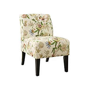 Amazon Com Acme Ollano Floral Fabric Accent Chair