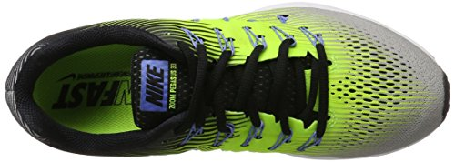 Nike Air Zoom Pegasus 33, Zapatillas de Running para Hombre Multicolor (Silber Matt/weiß/volt/schwarz)