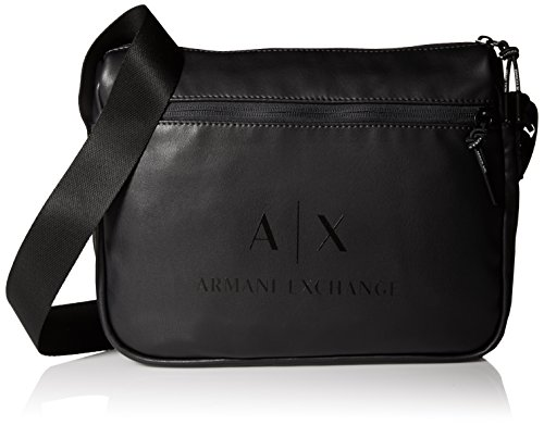 Armani Exchange Men's Coated Reported Bag Accessory, -black/gun metal, - Men Bags For Armani Exchange