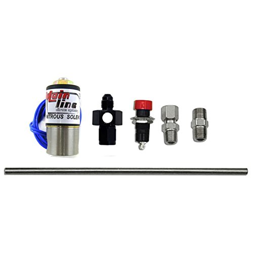 Nitrous Express ML15600 Nitrous Purge Valve Kit -04AN Manifold Adapter Fitting Push Button Activation Vent Tube Nitrous Purge Valve (Express Nx Nitrous Kit)