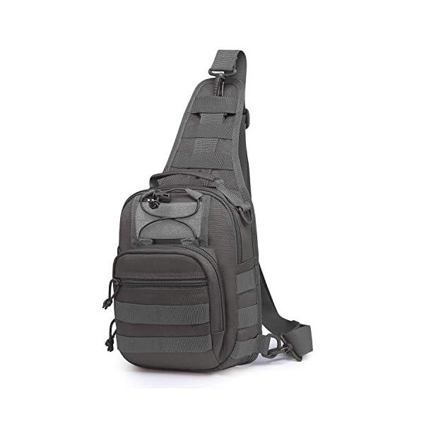 415XHhLu7uL Wind Took Schultertasche Taktische Tasche MOLLE Tactical Sling Bag Multipurpose Daypack Crossbody Brusttasche Crossbag…