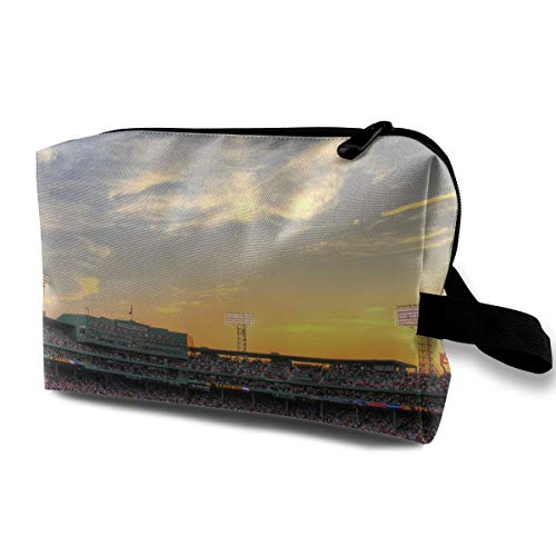 LEIJGS Beautiful Fenway Park Baseball Field Small Travel Toiletry Bag Super Light Toiletry Organizer for Overnight Trip Bag