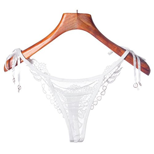 Henraly Women Lady Sexy Lace Briefs Lingerie Knickers G-string Thongs (White) ()