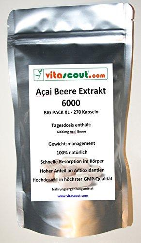 Acai Beere 6000! 270 Kapseln - Fettverbrennung - Detox - Diät - PN: 010503 ...