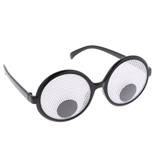 Googly Eye Glasses (Dovewill Funny Googly Eyes Eye Glasses Joke Spectacles Comedy Party Birthday Party Fancy Dress)