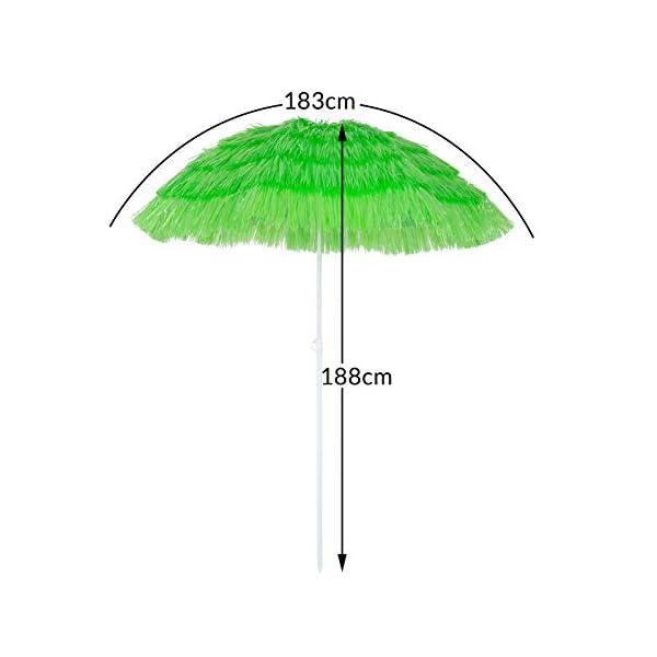 Kingsleeve Ombrellone da spiaggia Mare Hawaii in Paglia sintetica Ø160cm Altezza: 180 cm inclinabile regolabile robusto… 7 spesavip