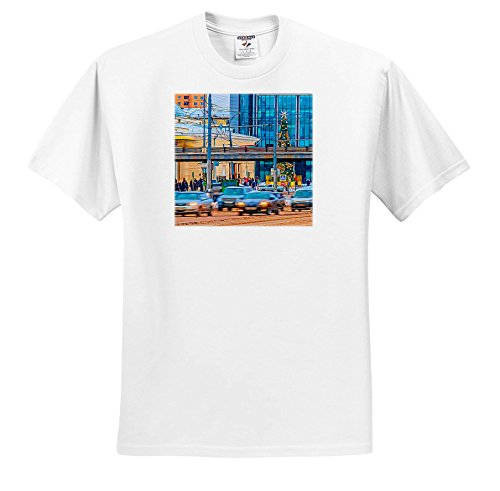 Price comparison product image Alexis Photo-Art - Moscow City - Moscow Garden Ring Avenue Near Park Of Culture Metro Station, Winter - T-Shirts - Youth T-Shirt Small(6-8) (TS_272333_12)