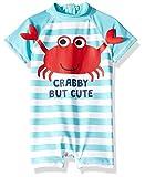 Wippette Baby Boys Printed Rashguards, Cute Crab Blue Fish, 12M