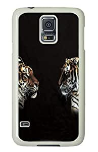 Face Off Tiger PC Case Cover for Samsung S5 and Samsung Galaxy S5 White
