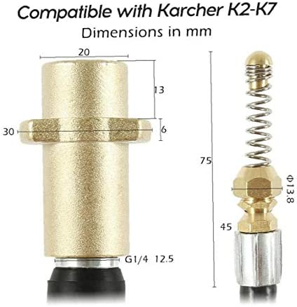 Pressure Washer Sewer Drain Cleaning Hose Tube Cleaner Compatible with Karcher K Series 20M Style A