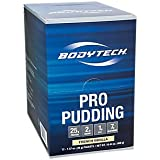 BodyTech Pro Pudding Protein with 25 Grams of Protein Simple OnTheGo Mix with Water Snack Protein Pudding Snack Vanilla (12 Packets) For Sale