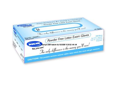 Invacare Powder-free Latex Exam Gloves Medium Case: 1000 by Invacare
