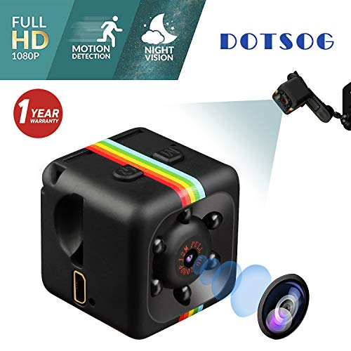 Spy Camera, DOTSOG Upgraded 1080P Portable Hidden Camera Mini Camera HD 1080P/720P Spy Home Security Wireless Cameras with Night Vision Motion Detection for Home, Car, Drone, Office