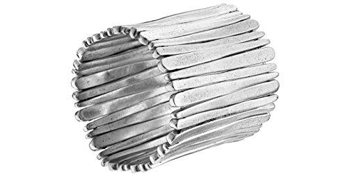 Metal Pointu's Bracelet Flyn plaqué argent, Ø65mm