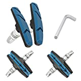 Senzeal 3 Pairs Brake Blocks V-Brake Blocks Shoes Pads 1 PCS Hex Wrench Brake Blocks Shoes Set Mountain Bicycle