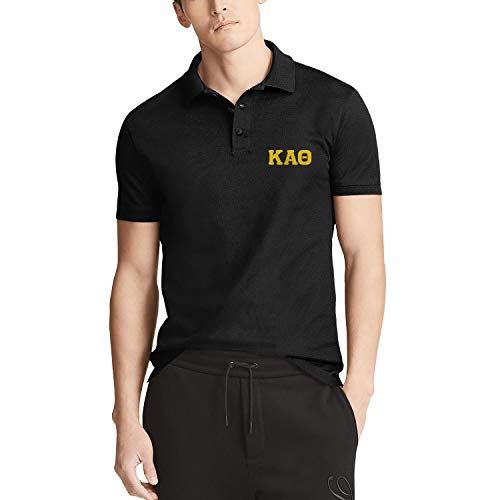 QILI Kappa Alpha Theta Classic Polo Shirt Slim Fit Shirt for Men