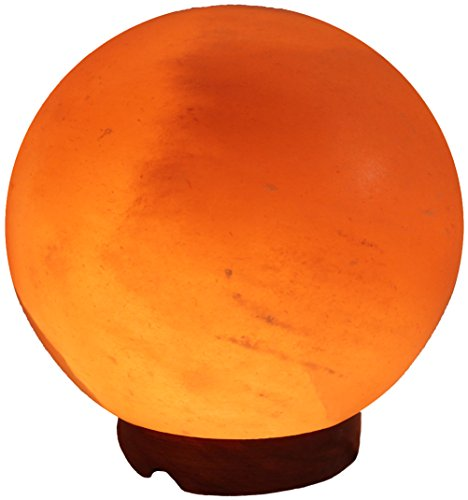 Indus Classic LG-03 6.25-Inch Himalayan Globe Salt Lamp Natural Crystal Rock, 6-8-Pound