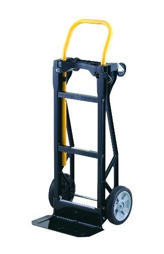 Harper Trucks Lightweight 400 lb Capacity Glass Filled Nylon Plastic Convertible Hand Truck and Dolly ()