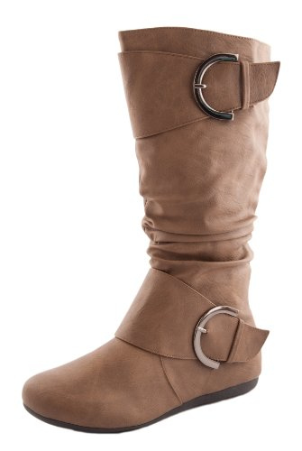 Women's Boots Ruched Moda Cognac Round 85 Slouchy Top BANK Toe T5UZnw