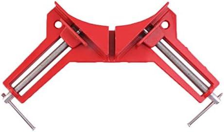プロフェッショナル90度直角額縁コーナークランプホルダー木工ハンドキット高強度の力に耐える-レッド&シルバー