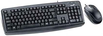 Genius KM-130 - Teclado + ratón USB, Color Negro: Amazon ...