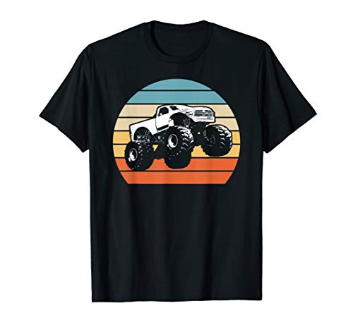 - Monster Truck American Flag Racing USA Vintage T-Shirt