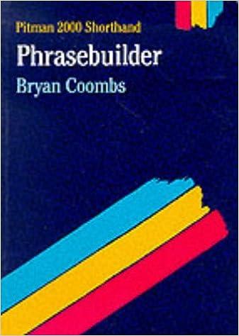 Pitman 2000 Shorthand Phrasebuilder