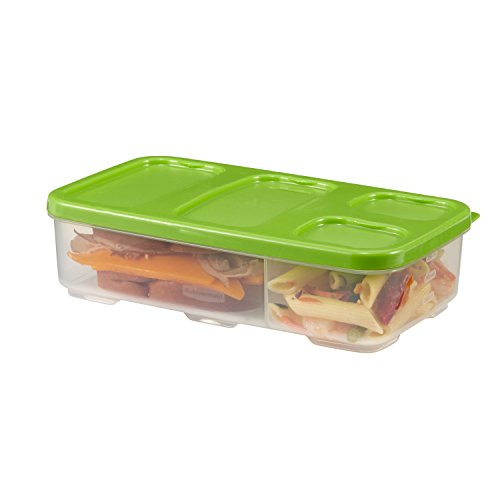 Rubbermaid Entree Container with Dividers & Lid, Green